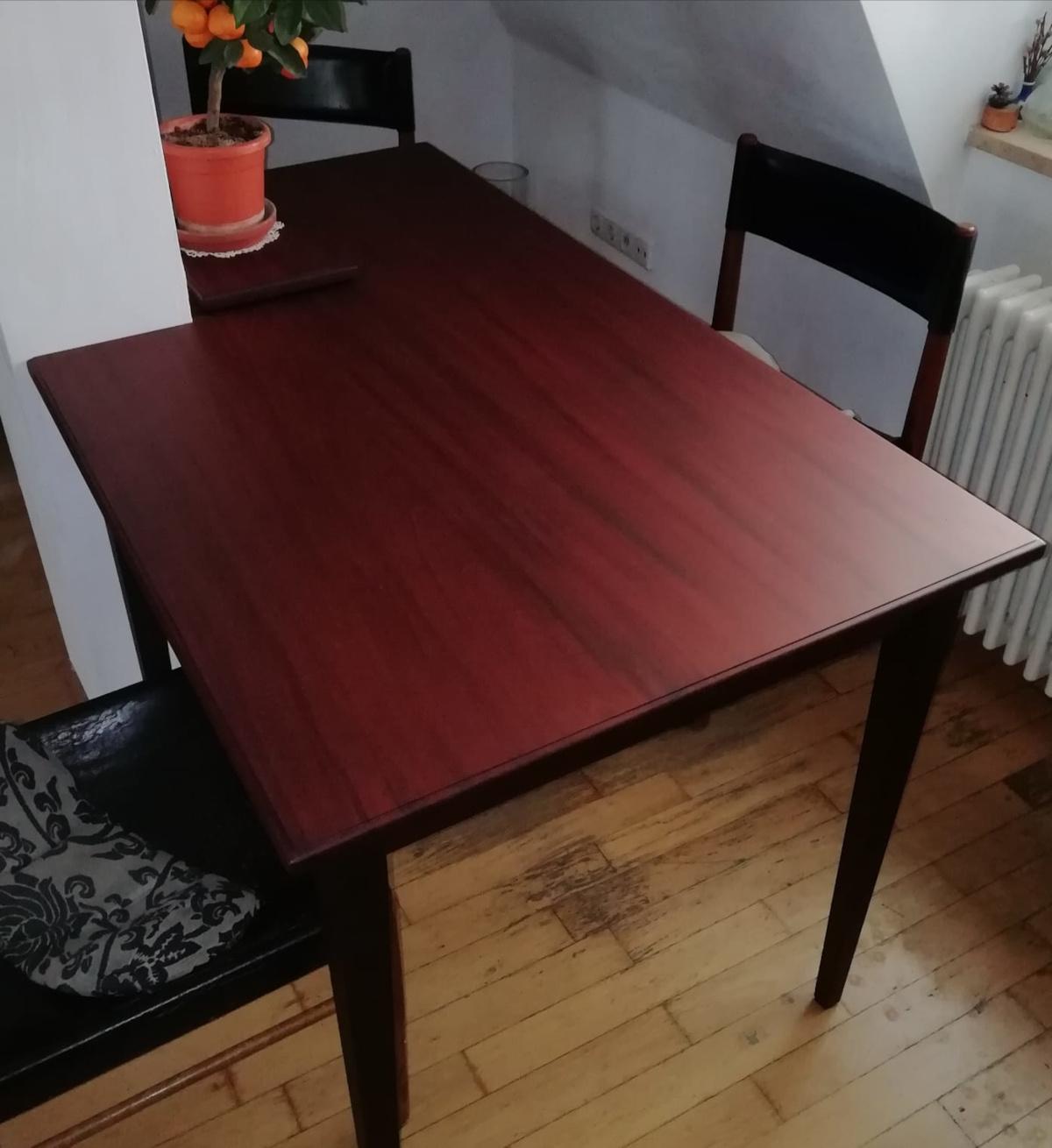 Tisch englischen Mahagoni - Einbeziehung der Säule