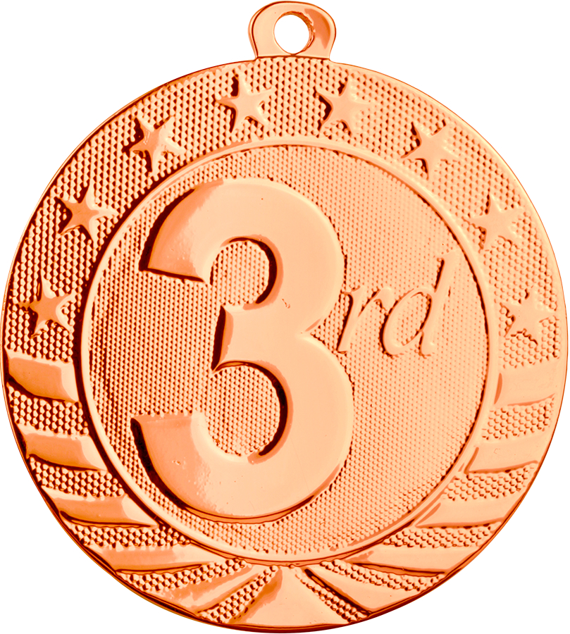 3rd Place Medal, *Bronze only