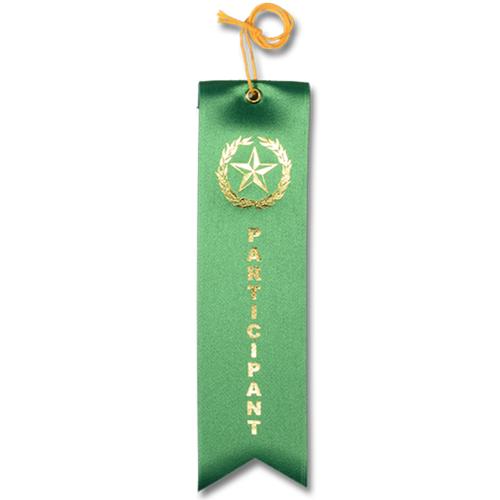 Participant Ribbon - Green w/Gold Foil
