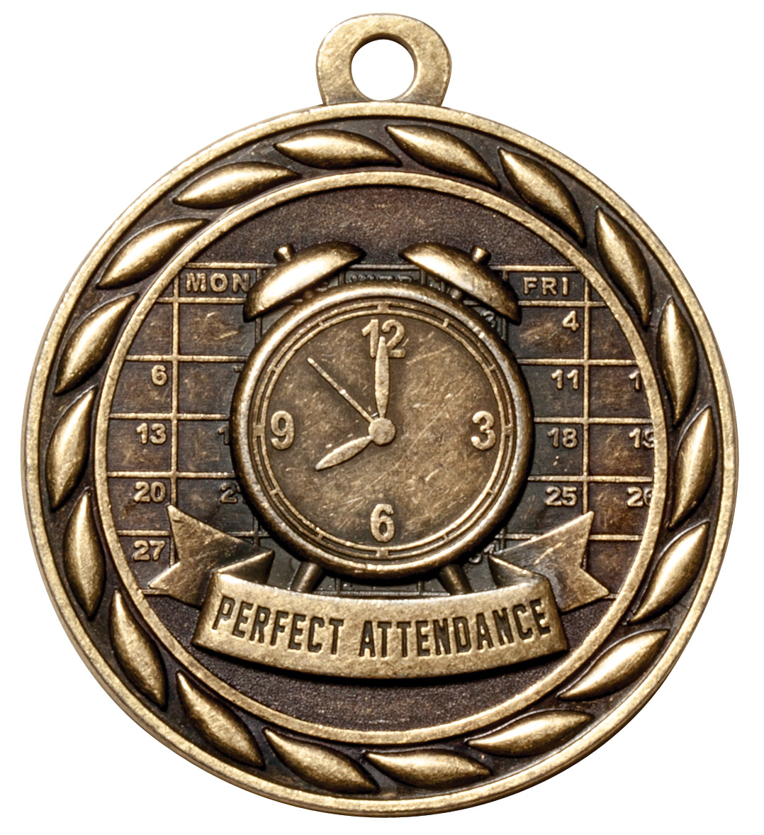 M322-MS - Perfect Attendance Medal (Gold Only)