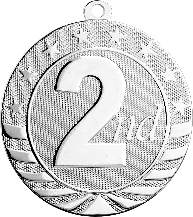 2nd Place Medal, *Silver only