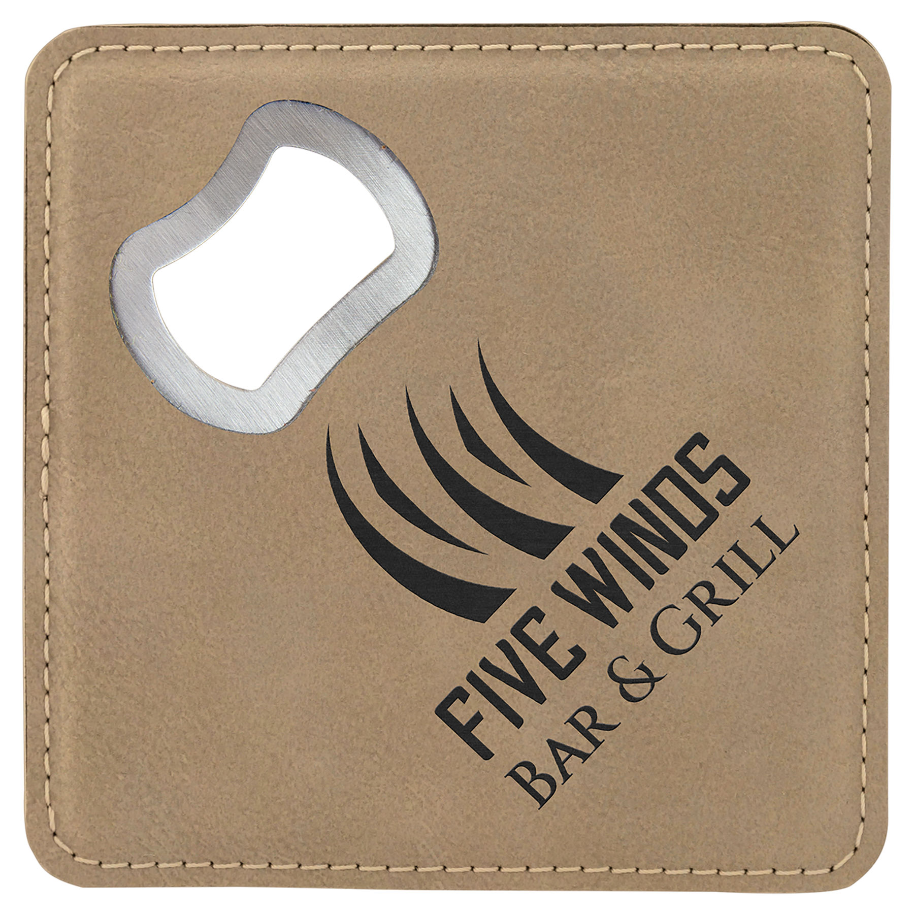 Light Brown Bottle Opener Coaster
