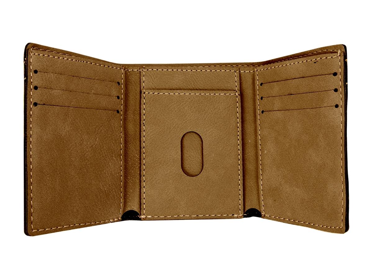 Trifold Wallet Open