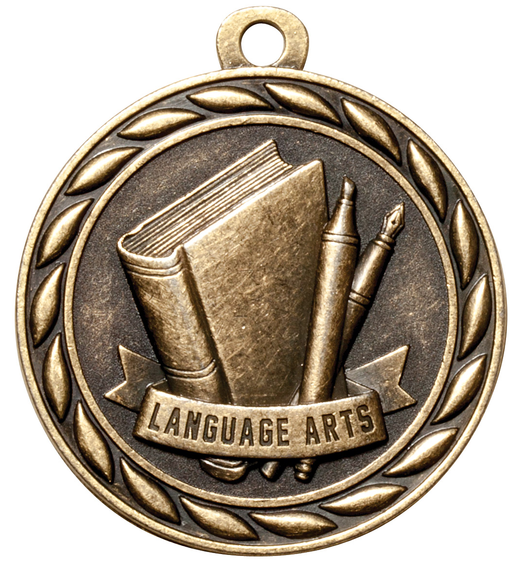 M314-MS - Language Arts Medal (Gold Only)