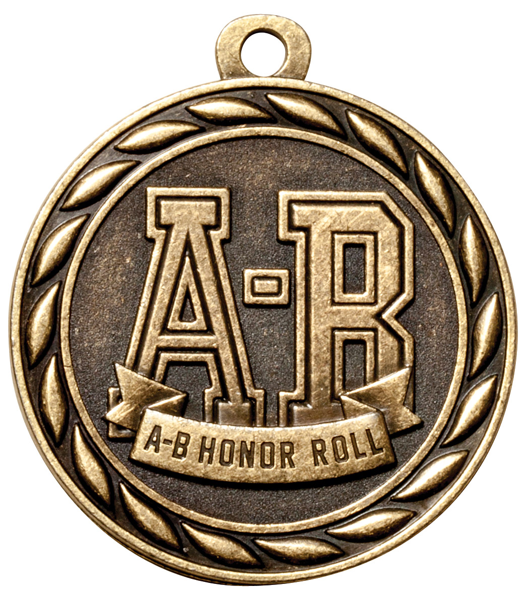 M312-MS - A-B Honor Roll Medal (Gold Only)
