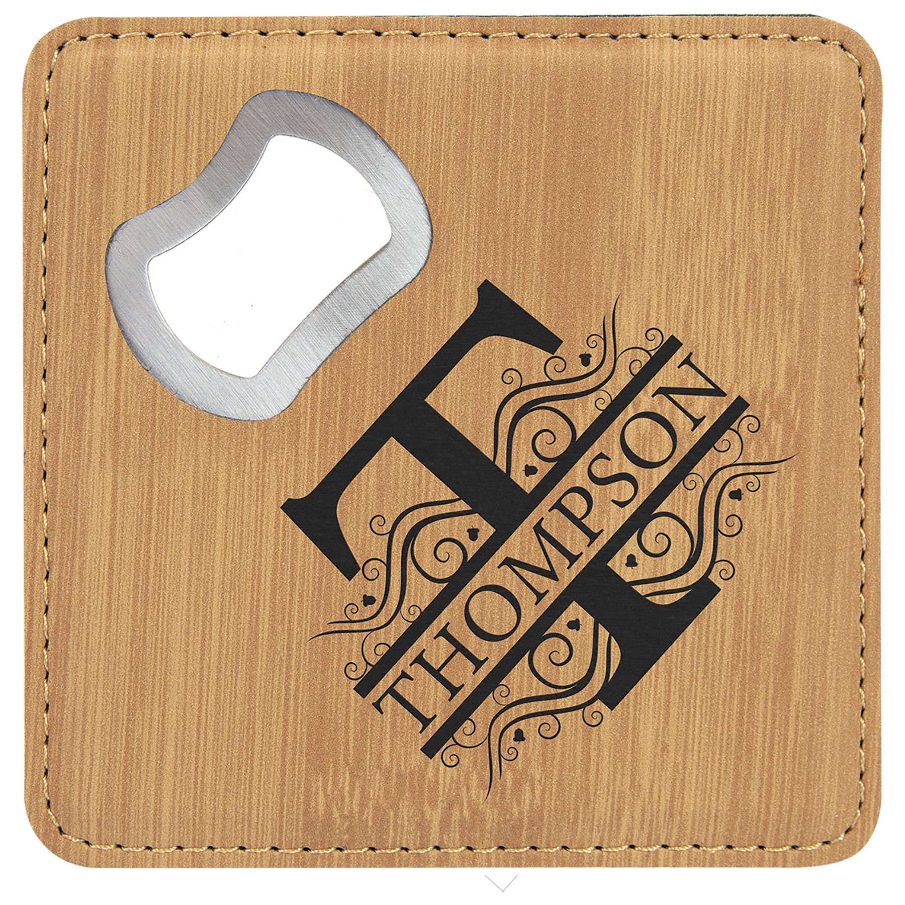 Bamboo Bottle Opener Coaster