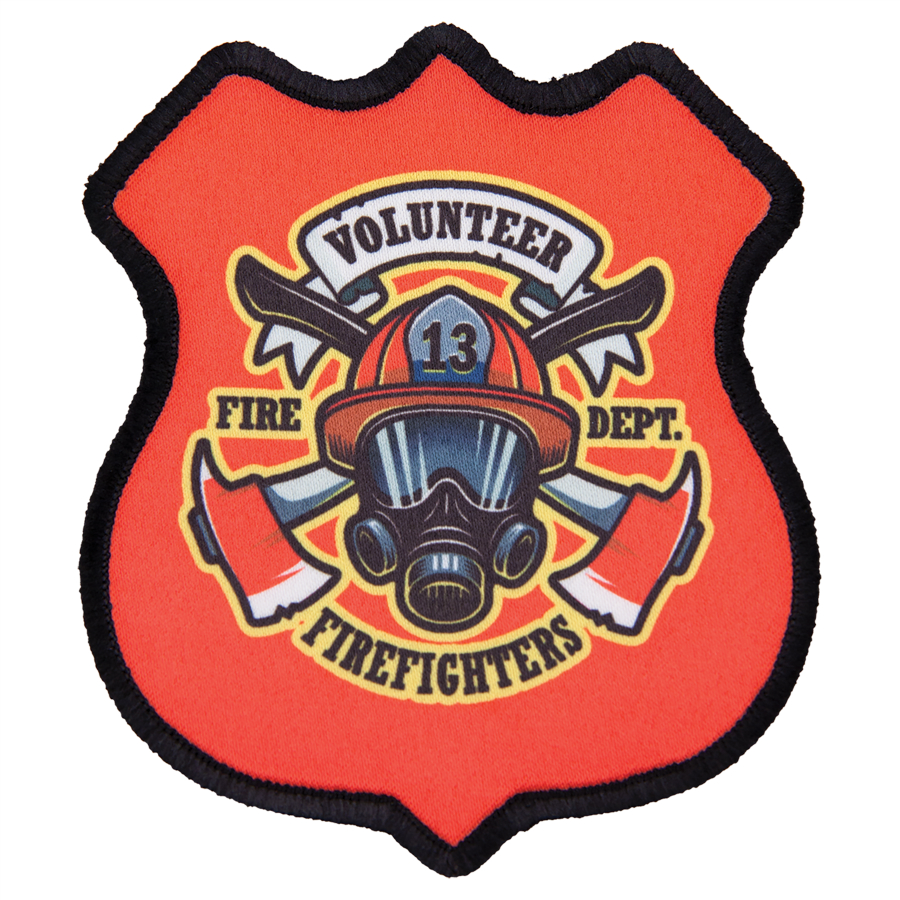 "3"" x 3-1/2"" 4-Point Shield Full Color Patch"