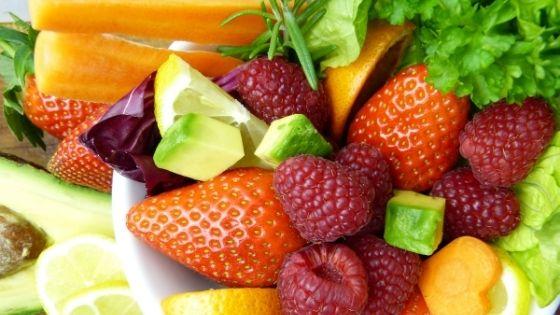 Obst- und Salatteller