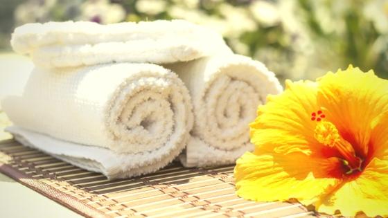 Foto von Handtüchern und Waschlappen