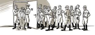 """""""Wortloses Widerstehen im KZ Ankenbuck – Kurt will gedenken und bezahlt dafür"""" unter www.lzw-portal.de ©Katja Reichert für den Lernort Zivilcourage & Widerstand e. V."""