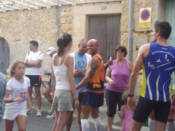 beim Schwätzchen mit anderen Läufern vom Forum