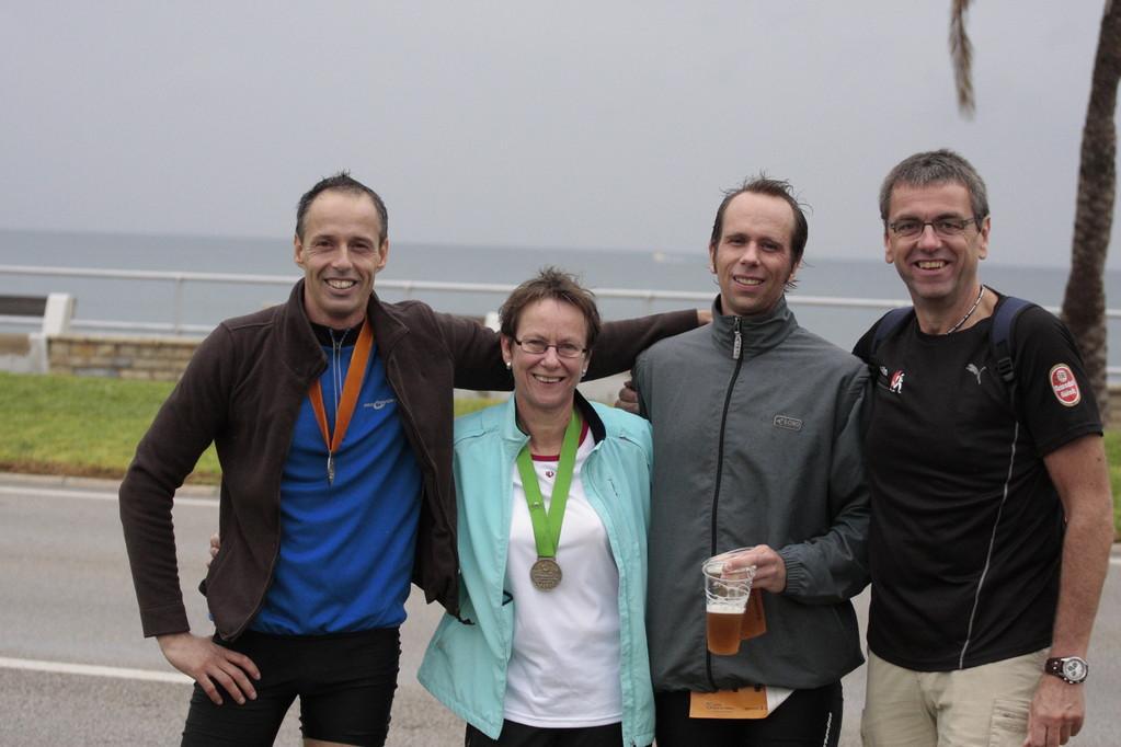 ein starkes Team:  Josef, Marco, Marion und ich