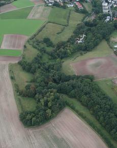 Der Hambachgrund aus der Luft. (c) Stephan Neumann