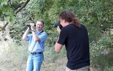 Christian Fischer im Fotoshooting mit Pressefotograf Frank Wunderatsch
