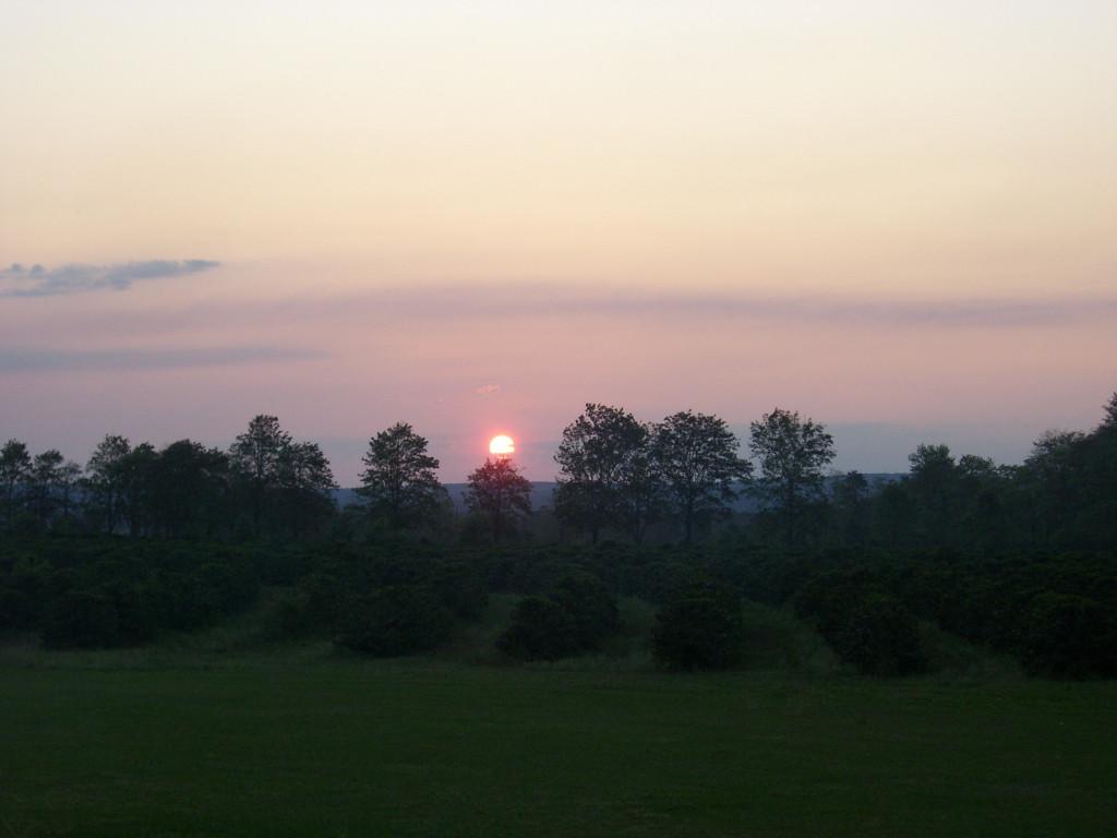Sonnenuntergang auf der Farm Jaguar