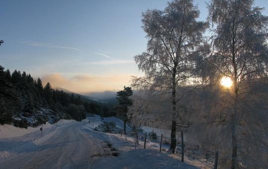 Chemin d'Ardèche l'hiver, pour la pratique de la raquette à neige