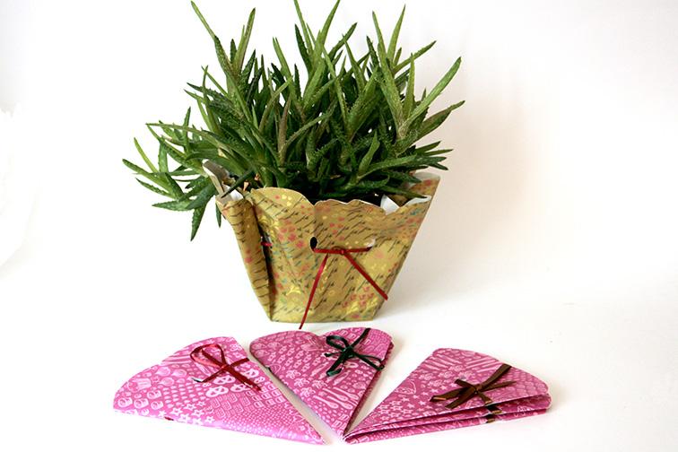 Blumenmanschette aus Papier
