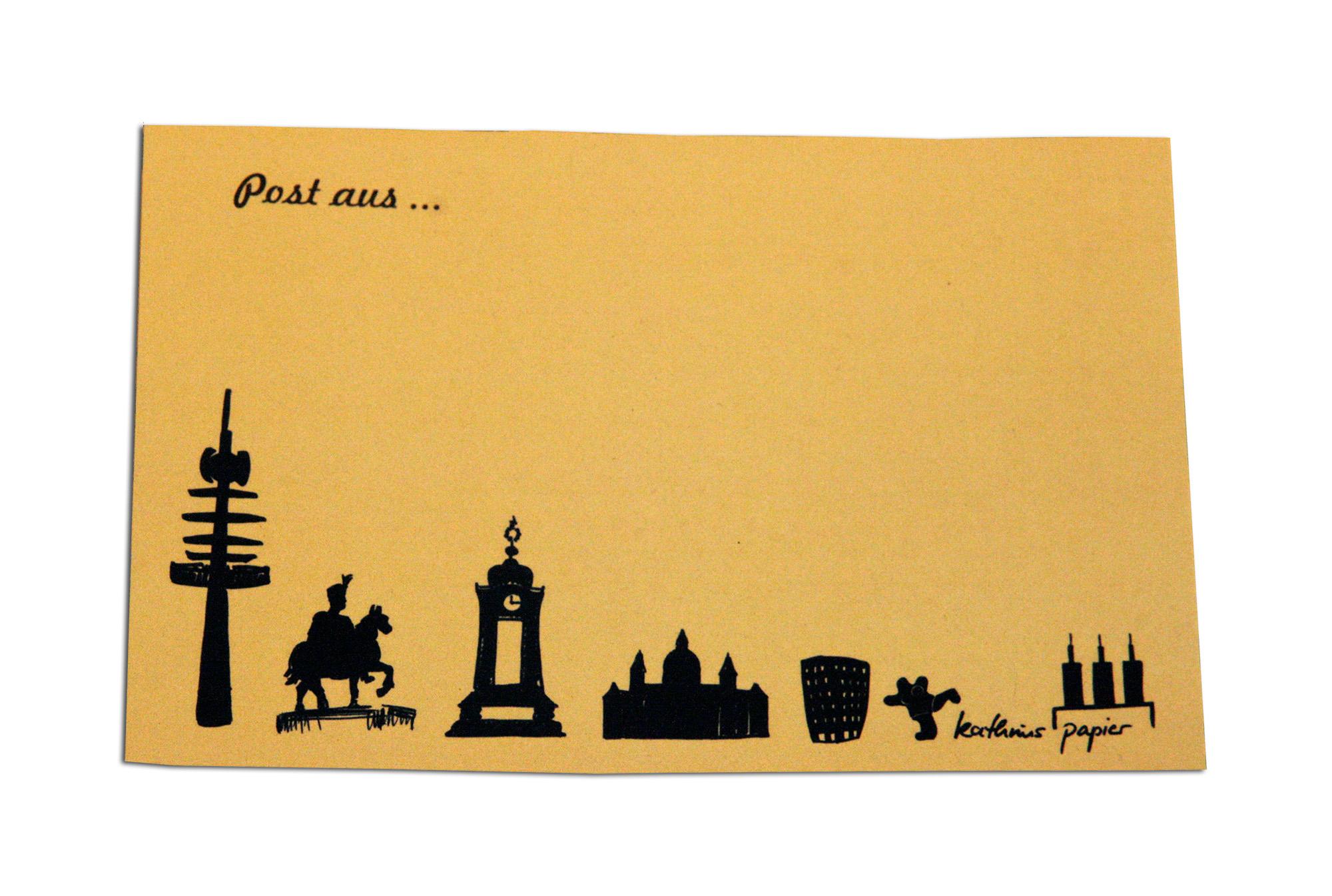 Postkarte Hannover gelb
