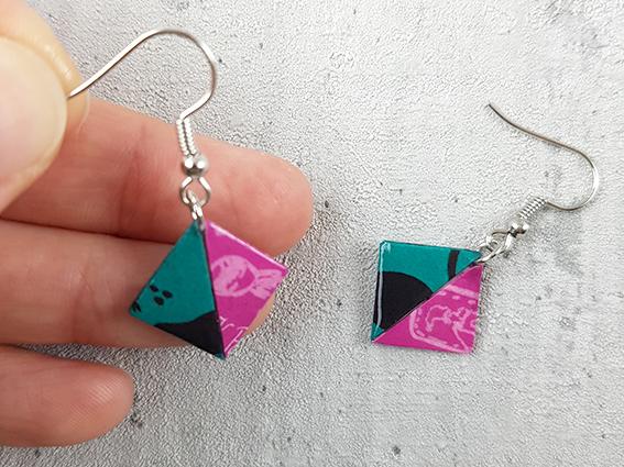 origami schmuck, kathrins papier, nancys kreativ werkstatt