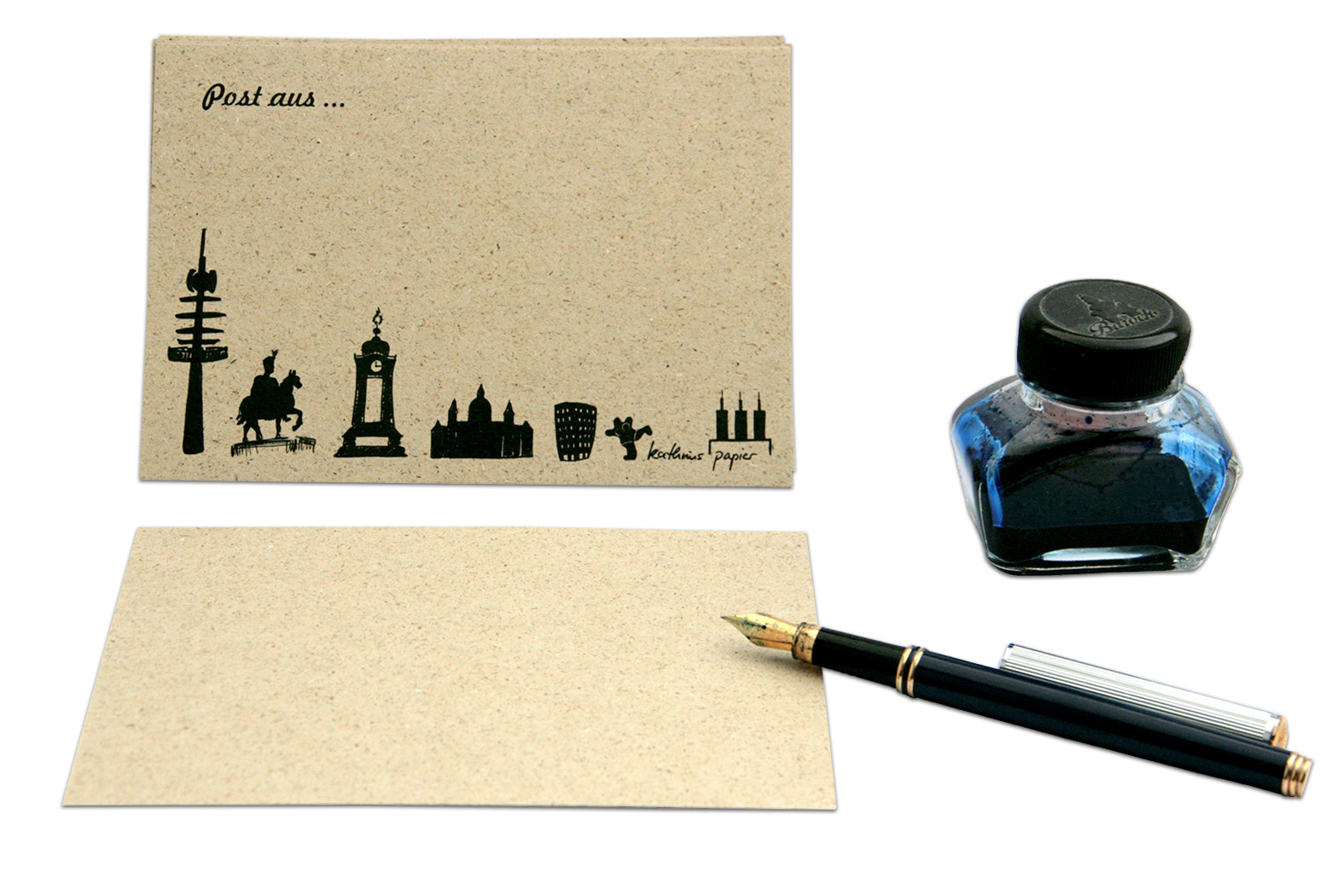 Postkarte Hannover aus Graspapier
