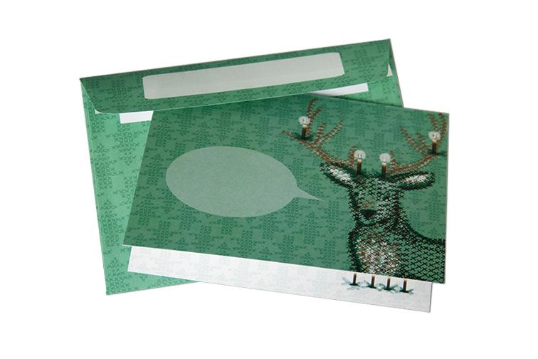 Grußkarte Hirsch mit Umschlag