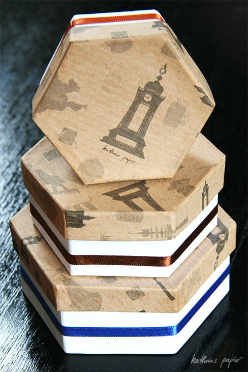 Kathrins Papier beklebte Schachteln -1-