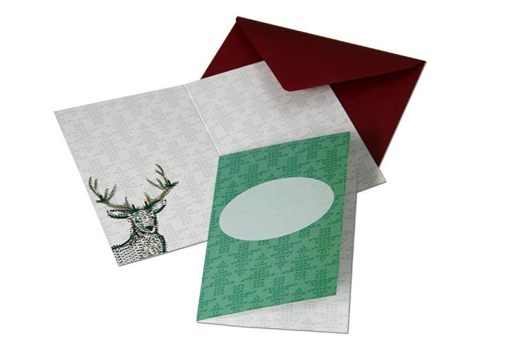 kleine Karte Weihnachten zum selbst Beschriften Format DIN A7 mit Umschlag