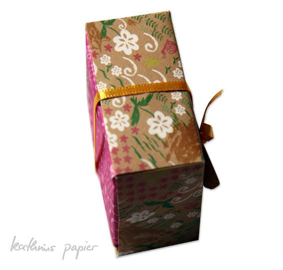 Kathrins Papier Geschenkpapier Kästchen 2