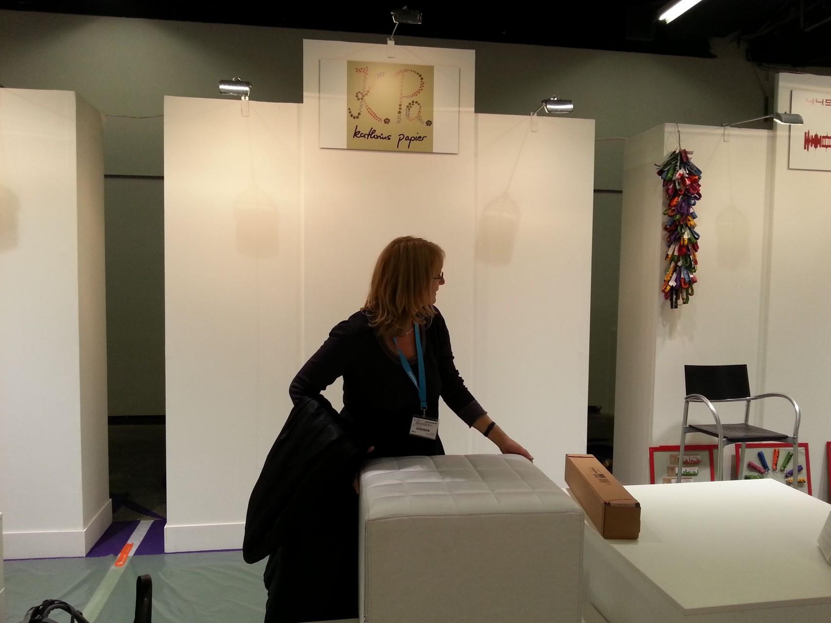 Kathrins Papier Aufbau Paperworld 2014