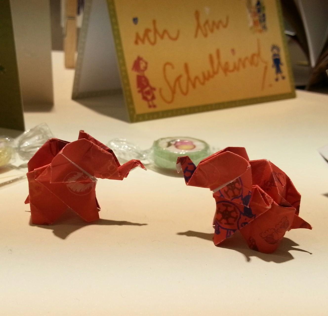 Kathrins Papier Elefanten klein Paperworld 2014