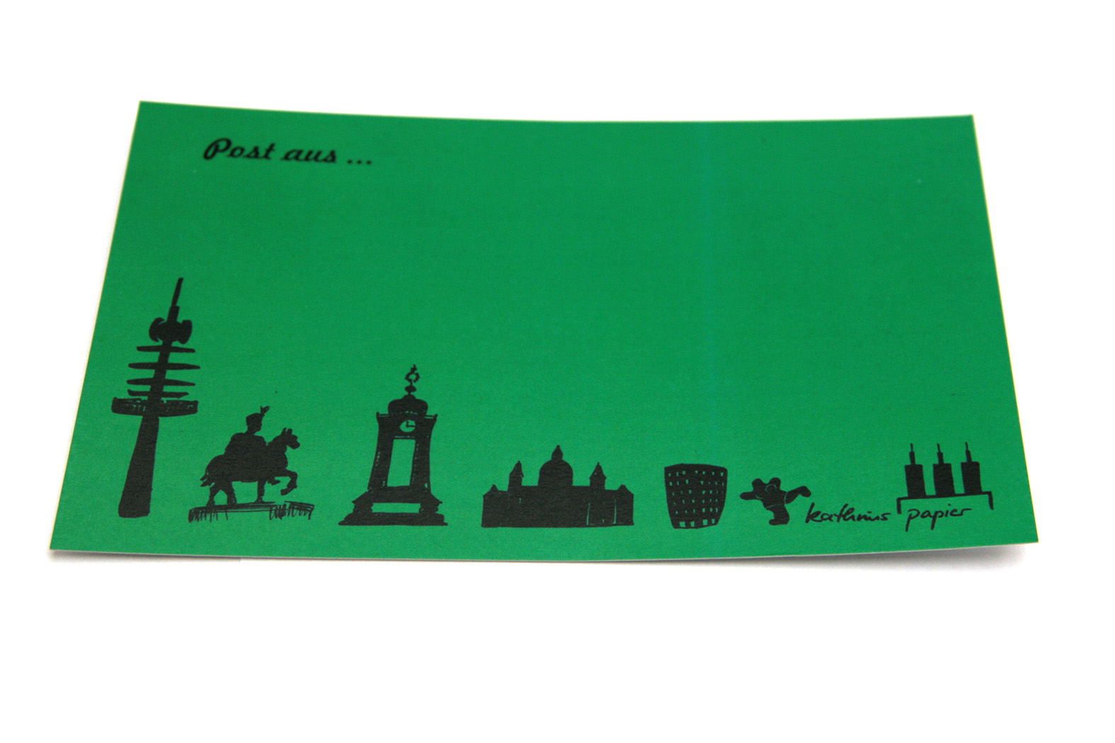 Postkarte Hannover grün
