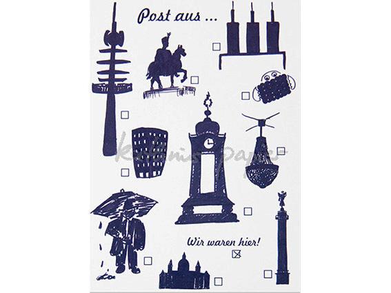 Postkarte Hannover ankreuzen