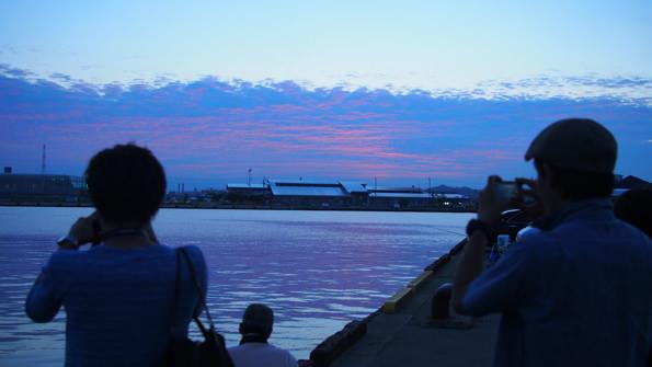 この日は、幸運にも美しい夕暮れを見ることができた。しかし、その時間はほんの数分。
