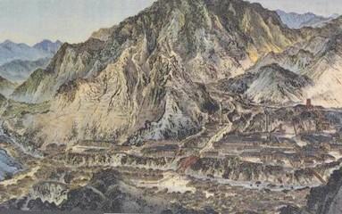 歴史資料にみる足尾銅山全図。