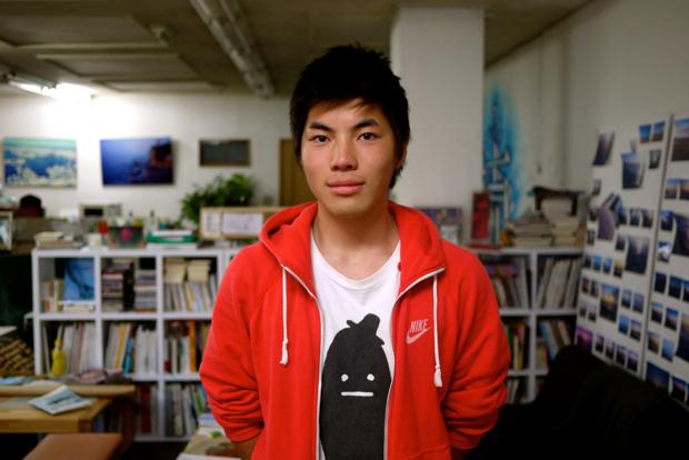 異読会を企画した平子涼。尊敬するのは松岡正剛。編集の世界にどっぷりと浸かる18歳だ。