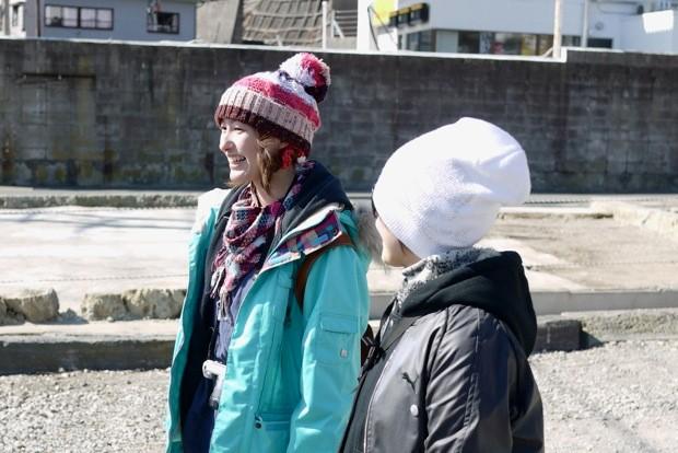 主催者の豊田千晴(左)。建築事務所に勤務するかたわら、古民家再生、自転車ツーリズムなど幅広い活動を行っている。