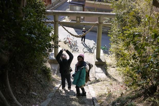 小名浜の山間にある寺院や神社などを散策。バイクに乗っていないときも探検は続く。