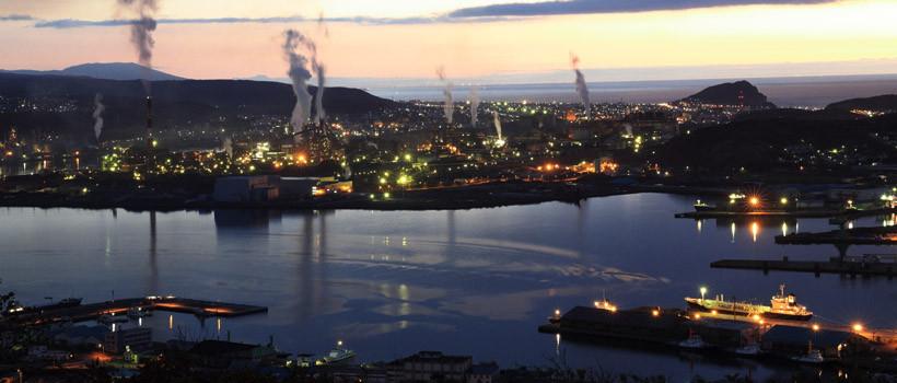 カジタの注目する街のひとつ室蘭。工場夜景の美しい街でもあり、小名浜と少し似ている。