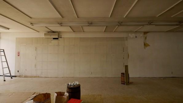 オープン当初のUDOK.の壁はまっさらなまま。