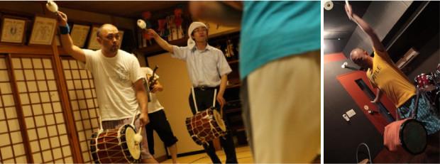 その練習は、集会場だけでなく、スタジオでも続けられる。( 写真協力:プロジェクトFUKUSHIMA!  IWAKI!!)