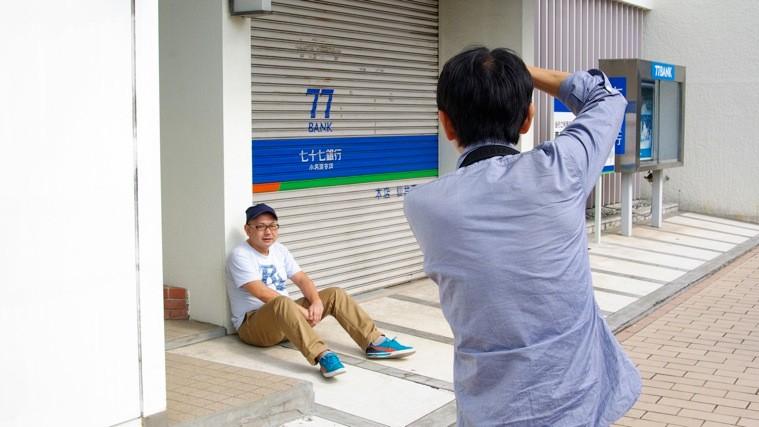 大森克己にポートレイトを撮ってもらえるという「小名浜写真館」。なかなか味わえない、貴重な体験だ。photo by Riken KOMATSU