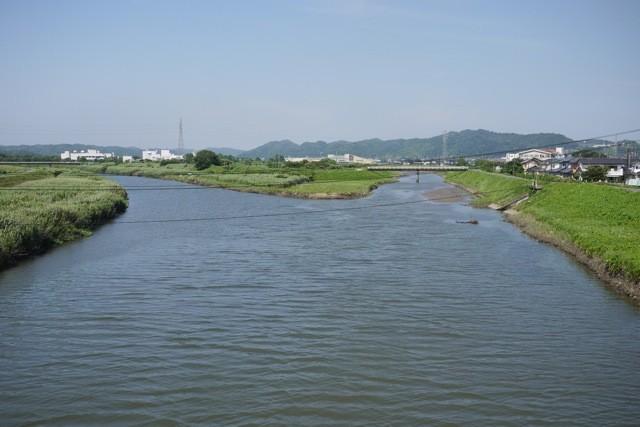 矢田川との合流地点