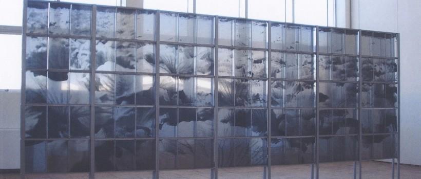 九冨の藝大時代の修了制作「纏」。壁画の理念を大いに吸収した大学院時代の話は、特に興味深い。