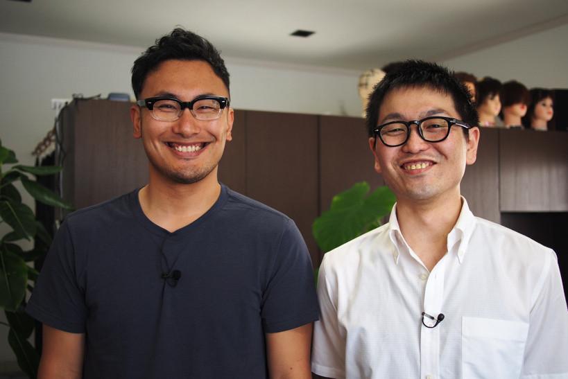小松理虔さん(左)と菅原暁さん(右)