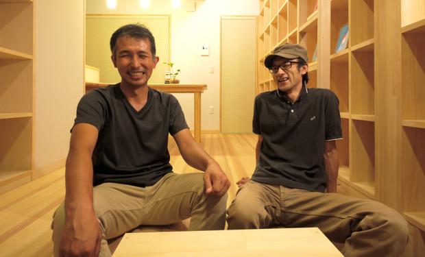 今回の2人の主役。建築家の豊田善幸(左)、アーティストの高木市之助(右)。