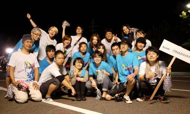 team ONAHAMA。名古屋や東京からこの日のために集まってくれたメンバーも。