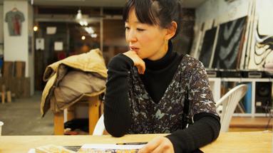 インタビューに答える松田。UDOK.にて話をうかがった。