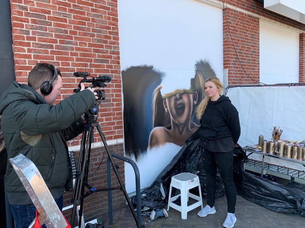 Achter de schermen tijdens de opnamen voor Omroep Gelderland