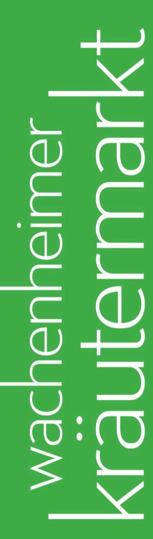 Bewerbungen für Wachenheimer Kräutermarkt 2021