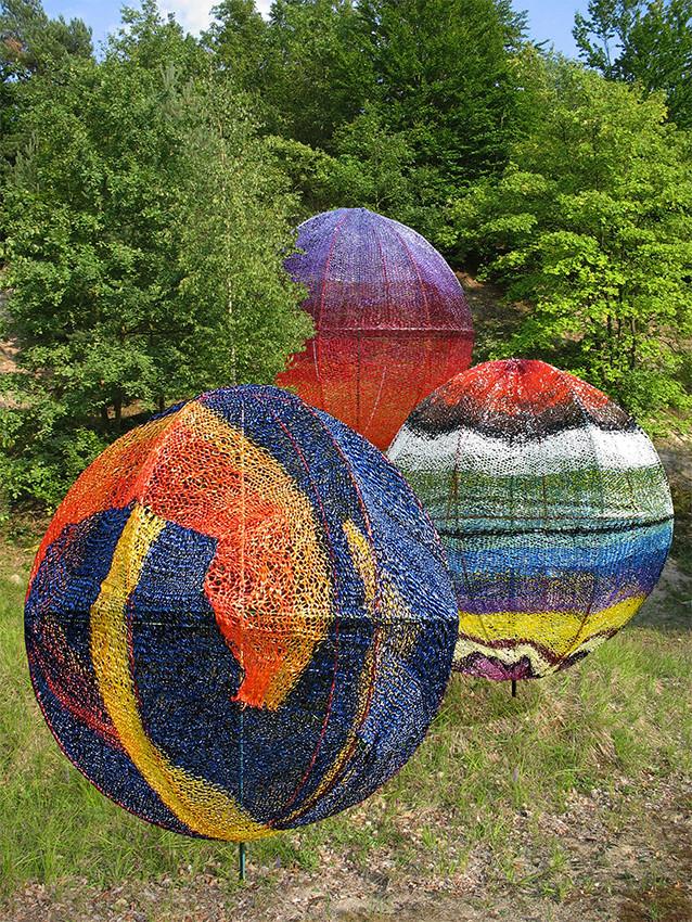 Edith Meusnier,  En Contrepoint ,  Forêt d'Halatte  été2011